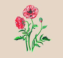 Wild Poppies Womens Fitted T-Shirt