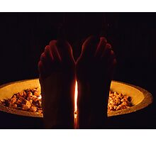 Fiery Toes Photographic Print