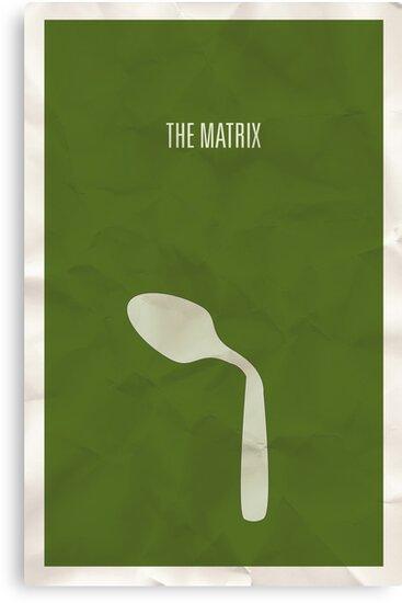 The Matrix minimalist poster by Hunter Langston