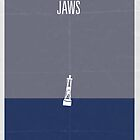 Jaws minimalist poster by Hunter Langston
