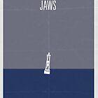 Jaws minimalist poster by Hunter Langston