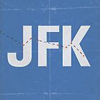 JFK minimalist poster by Hunter Langston