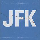 JFK minimalist poster by Hunter Langston
