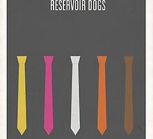 Reservoir Dogs minimalist poster by Hunter Langston