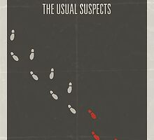 The Usual Suspects minimalist poster by Hunter Langston