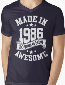 Made in 1986 , 30 Years of Being Awesome ! T Shirt , Hoodies & More ( 2016 Birthday ) Mens V-Neck T-Shirt
