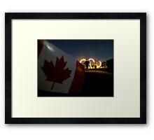 Canada Day celebrations - Canadian pride Framed Print