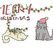 Christmas Cat Mischief by Emma Moules