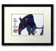The Tapir Framed Print