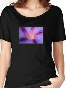 Lilac and Fuschia Morning Glory in Macro Women's Relaxed Fit T-Shirt