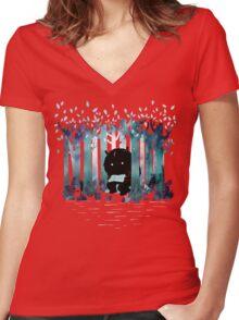 A Quiet Spot Women's Fitted V-Neck T-Shirt