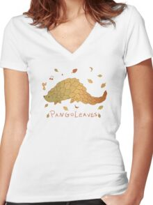 Pangoleaves Women's Fitted V-Neck T-Shirt