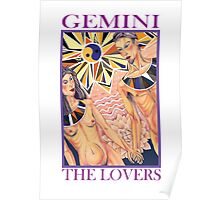 Astrology - Tarot. Gemini - The Lovers Poster