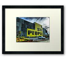 E STE PEOPLE Framed Print