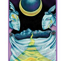 Astrology - Tarot. Pisces - The Moon by didielicious