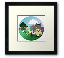 Fluttershy And Her Anime Friends Framed Print