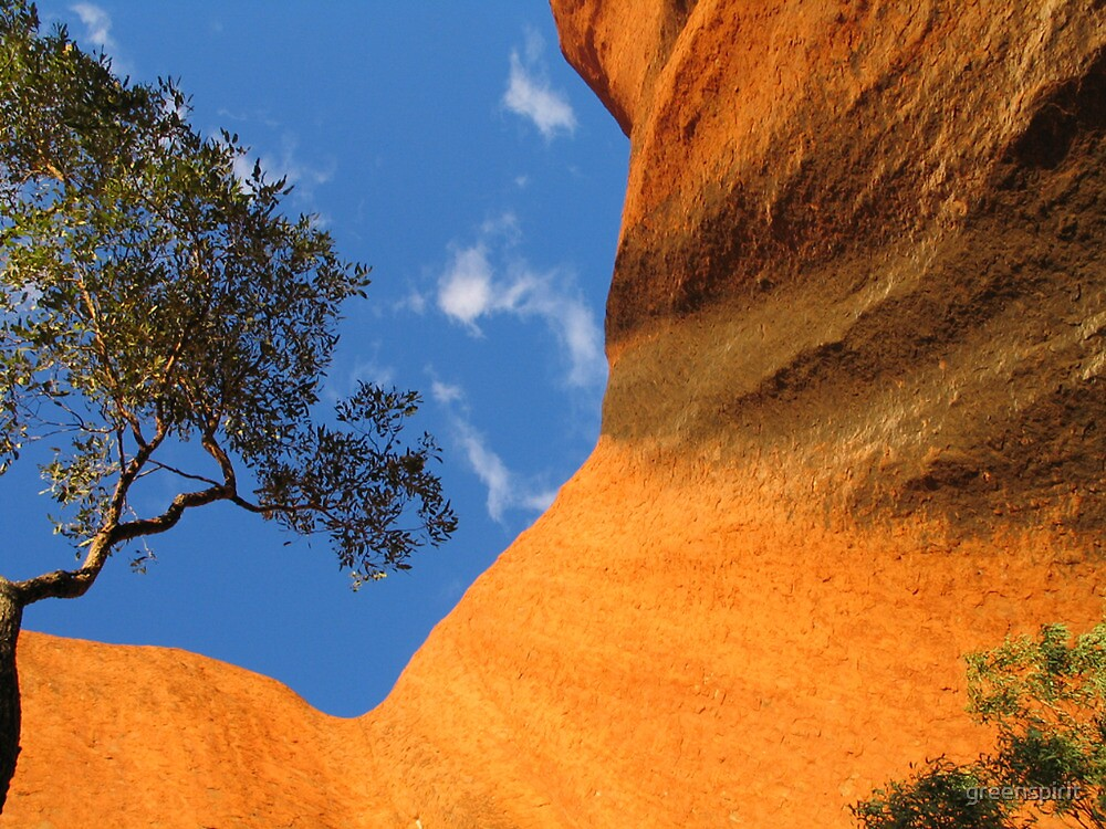 A different view of Uluru, Northern Teritory by greenspirit