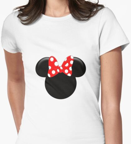 Minnie mause Womens Fitted T-Shirt