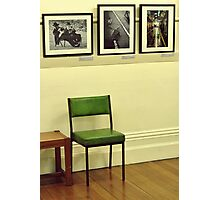 Green Chair & Images Photographic Print