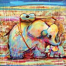 musical rainbow elephants by © Karin  Taylor