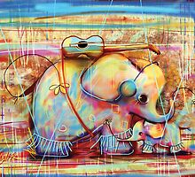 musical rainbow elephants by © Karin (Cassidy) Taylor