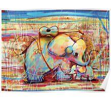 musical rainbow elephants Poster