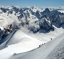Mount Blanc, France by greenspirit