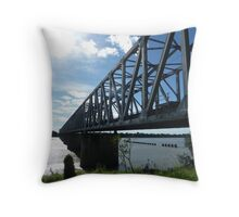 The Silver Link Throw Pillow