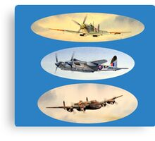 Spitfire Mosquito Lancaster Collage Canvas Print