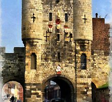 Micklegate Bar, York, England by Dennis Melling