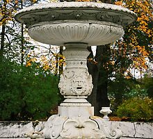 Marble fountain  in the park Tsarskoye Selo, Russia by torishaa