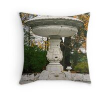 Marble fountain  in the park Tsarskoye Selo, Russia Throw Pillow
