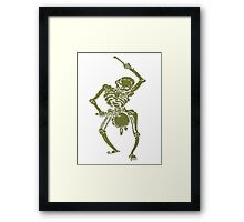 A Zombie Undead Skeleton Marching and Beating A Drum Framed Print