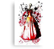 Skeleton Prom Queen Canvas Print