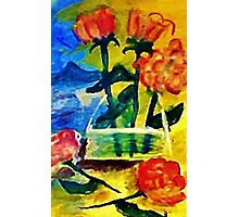Roses to arrange, watercolor Photographic Print