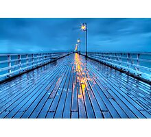 Stormy Shorncliffe Pier in HDR Photographic Print