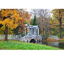 Marble Bridge in the park Tsarskoye Selo, Russia  Photographic Print