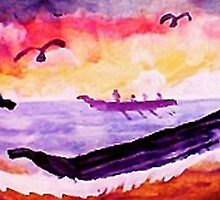 Coming ashore, #2, watercolor by Anna  Lewis