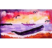 Coming ashore, #2, watercolor Photographic Print