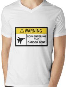 Danger Zone - Warning Mens V-Neck T-Shirt