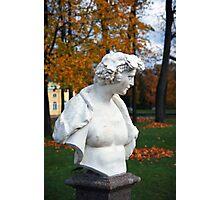 Statue in the park Tsarskoye Selo, Russia Photographic Print