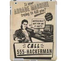 Hackerman arcade machine iPad Case/Skin