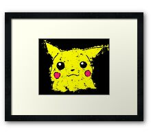 Pikachu paint Framed Print