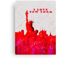 I LOVE NEW YORK - Color Red Canvas Print
