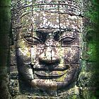 face at angkor thom by gruntpig