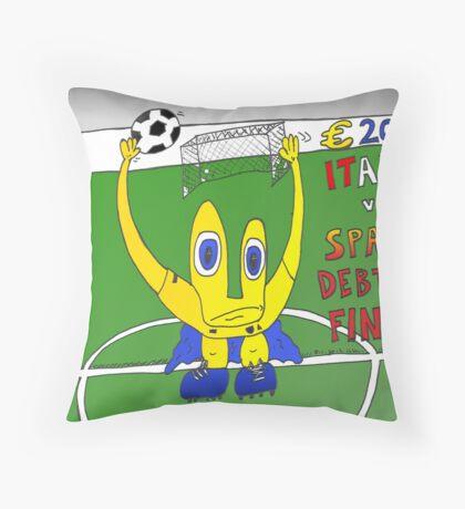 Binary Options Euro 2012 Debtors Final Throw Pillow
