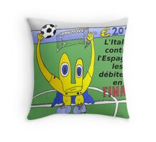 caricature du grand finale de l'euro 2012 entre italie et l'espagne Throw Pillow