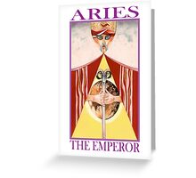 Astrology - Tarot. Aries - The Emperor Greeting Card