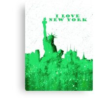 I LOVE NEW YORK - Color Green Canvas Print