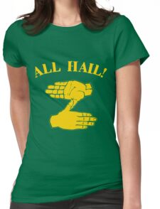 All Hail Zoltan Gold Womens Fitted T-Shirt